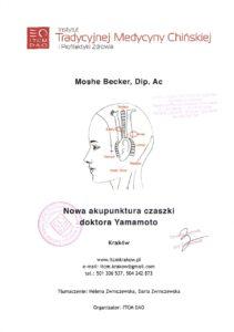 Certyfika - nowa akupunktura czaszki doktora Yamamoto