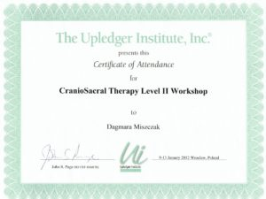 Certyfikat - fizjoterapia II