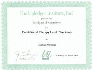 Certyfikat - fizjoterapia