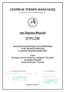 Dyplom - Terapia Manualna Holistyczna